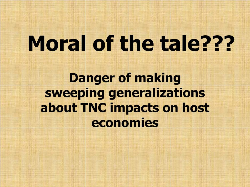 Moral of the tale???