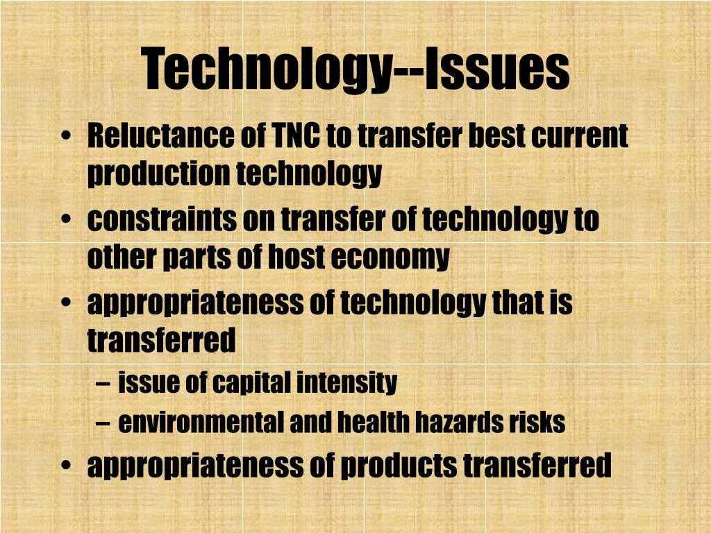 Technology--Issues