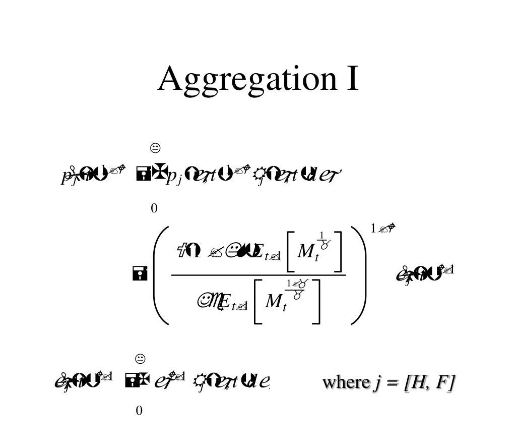 Aggregation I