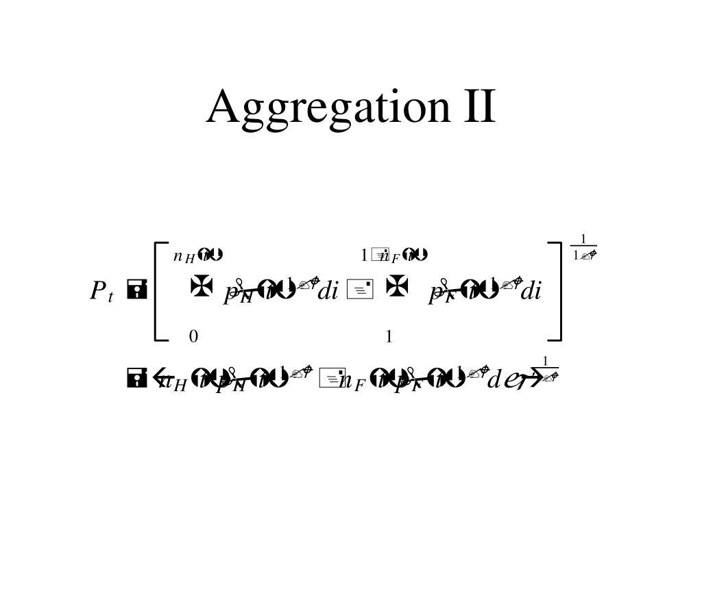 Aggregation II