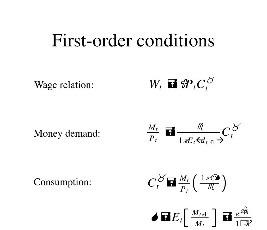 First-order conditions