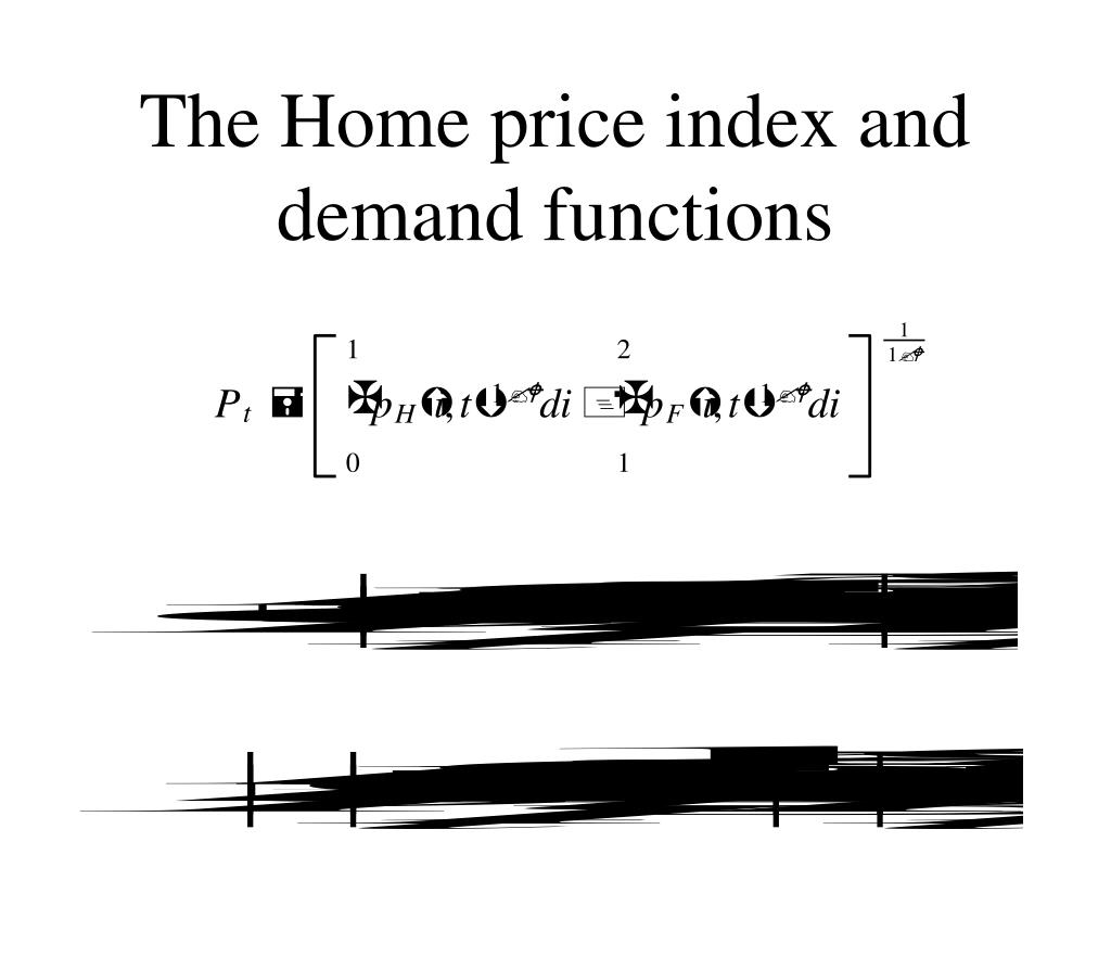 The Home price index and demand functions