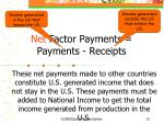 net factor payments payments receipts