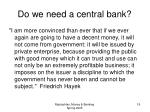 do we need a central bank