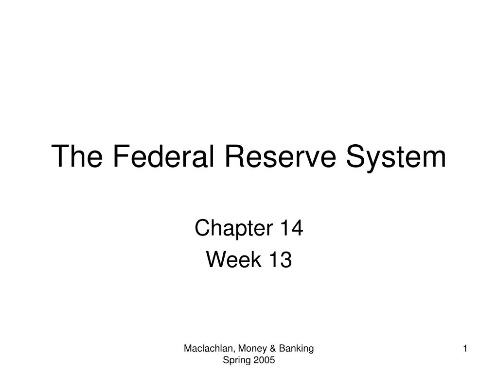 the federal reserve system l.