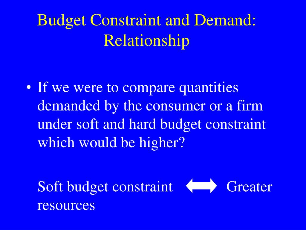 Budget Constraint and Demand: Relationship