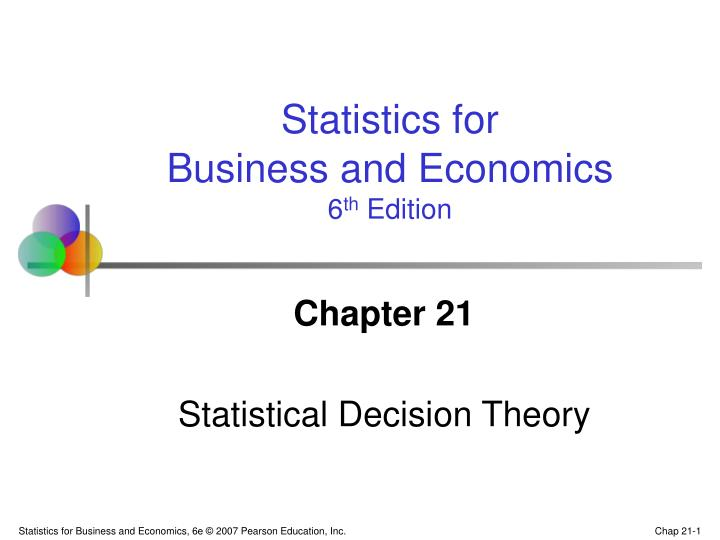 chapter 21 statistical decision theory n.
