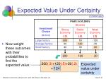 expected value under certainty31