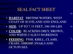 seal fact sheet