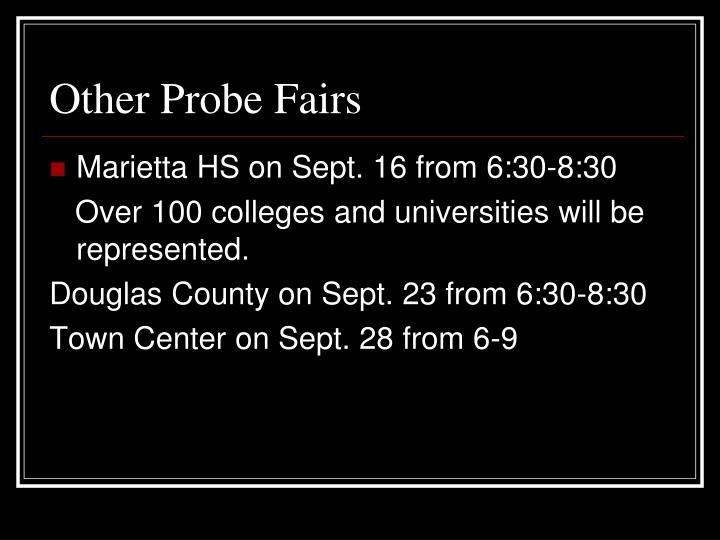 Other Probe Fairs