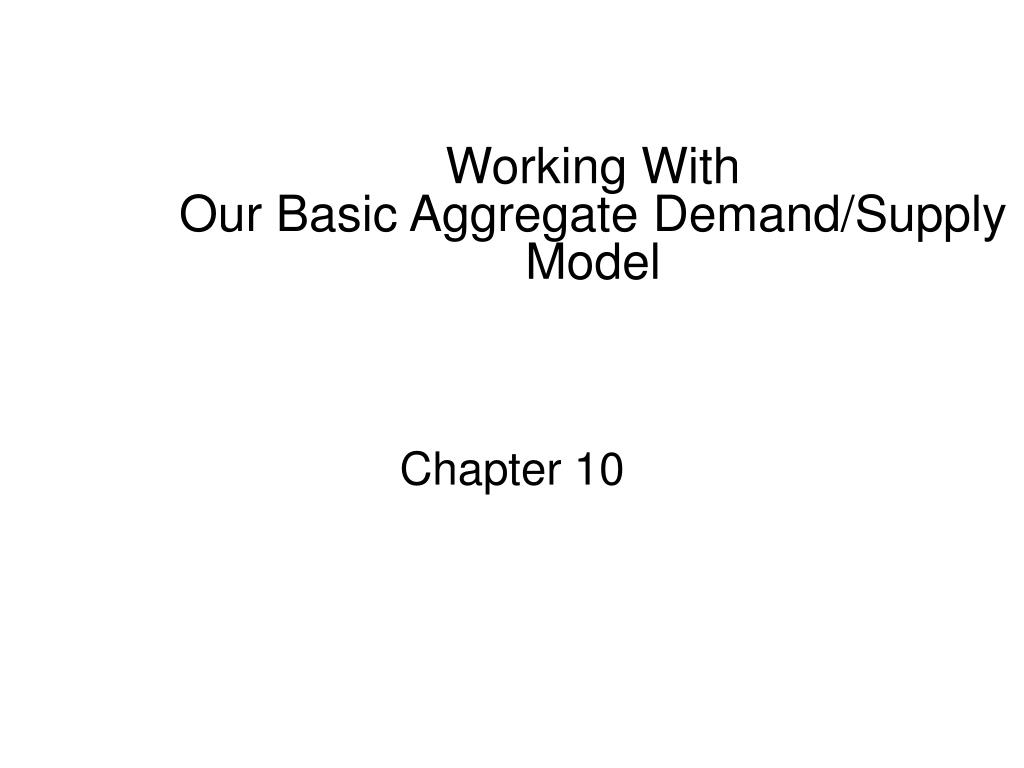 working with our basic aggregate demand supply model l.