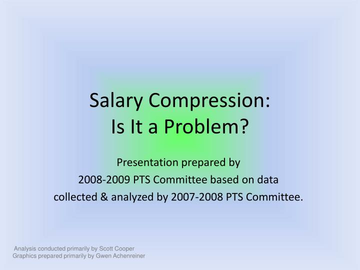 salary compression is it a problem n.