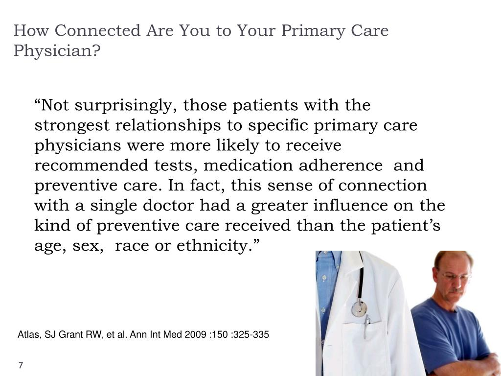 How Connected Are You to Your Primary Care Physician?