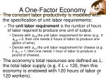 a one factor economy22