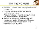 i c the ho model