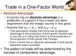 trade in a one factor world29