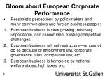 gloom about european corporate performance