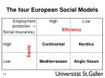 the four european social models