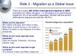 slide 2 migration as a global issue