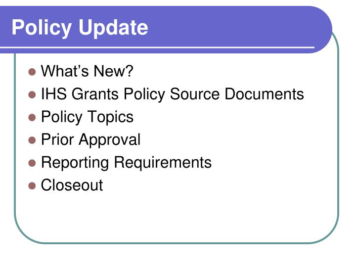 Policy update1