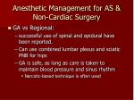 anesthetic management for as non cardiac surgery27