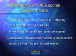 performance of cals course cardiac arrests