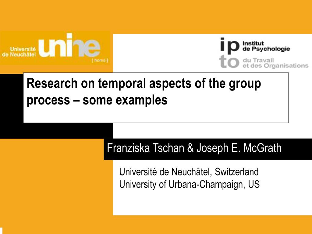 research on temporal aspects of the group process some examples l.