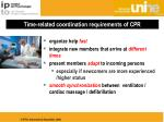 time related coordination requirements of cpr