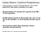 cardiac markers creatinine phosphokinase