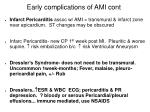 early complications of ami cont