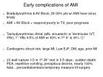 early complications of ami
