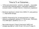 time to tx w outcomes