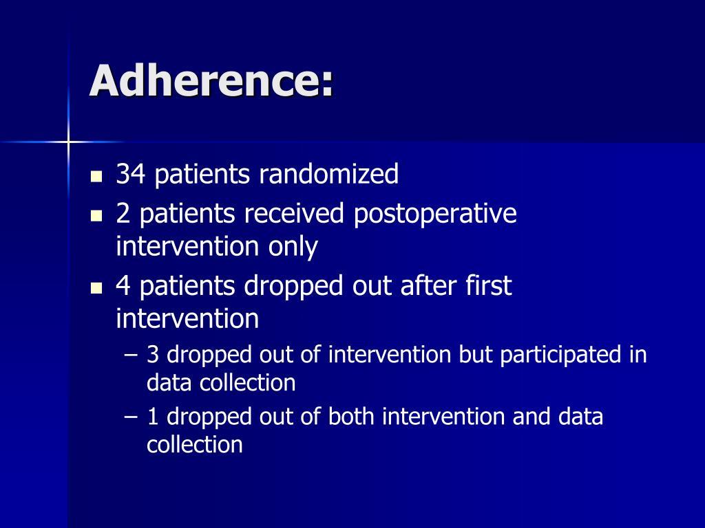 34 patients randomized