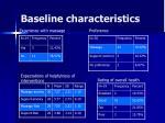 baseline characteristics55