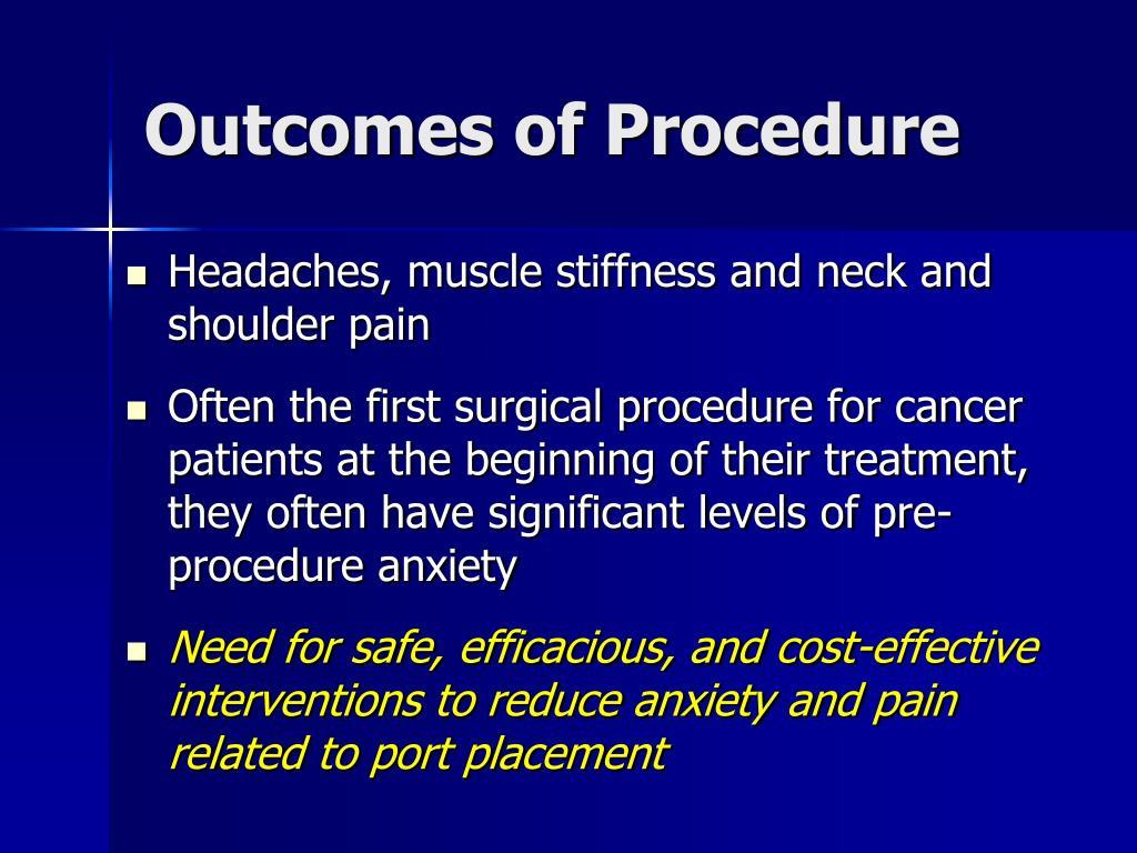 Outcomes of Procedure