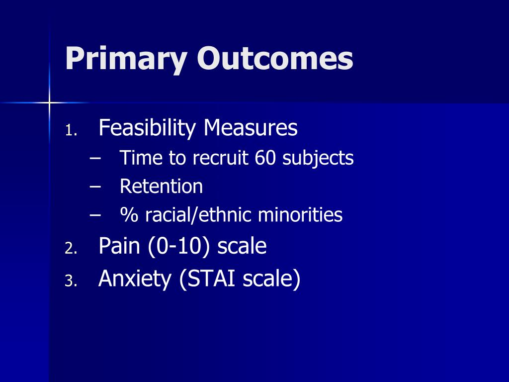 Primary Outcomes