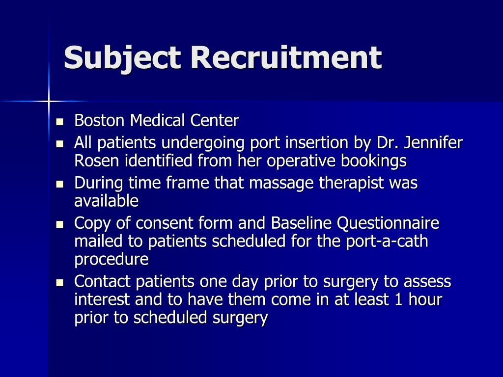 Subject Recruitment