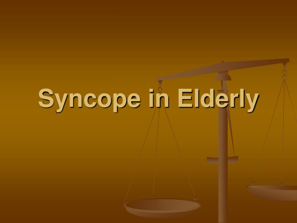 syncope in elderly l.
