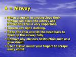 a airway