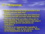 r response