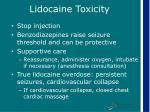 lidocaine toxicity13