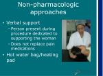 non pharmacologic approaches