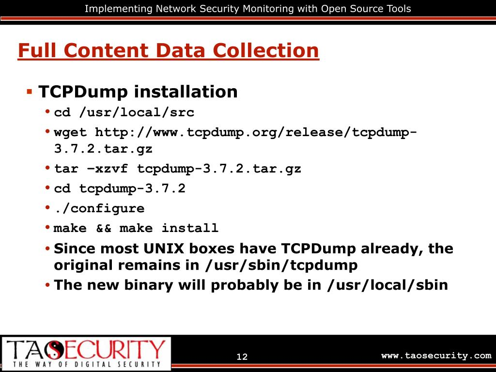PPT - Implementing Network Security Monitoring with Open