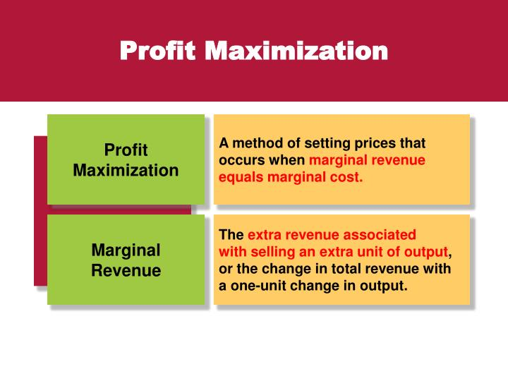 egt1 task 1 marginal revenue Egt 1 task 1 a 1 the profit maximization approach used when total revenue and total cost are compared is the largest positive gap or profit gained between total revenue less total cost.