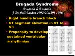 brugada syndrome brugada brugada j am coll cardiol 1992 20 1391 1396