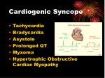 cardiogenic syncope