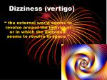 dizziness vertigo