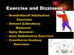 exercise and dizziness