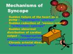 mechanisms of syncope