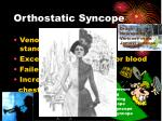 orthostatic syncope
